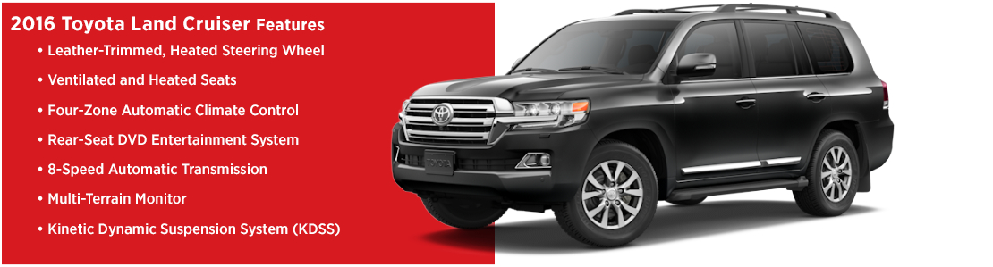 2016 Toyota Land Cruiser Model Features