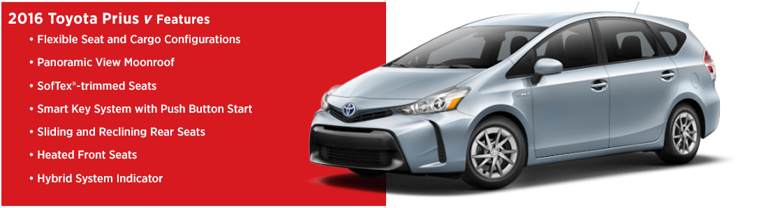 New 2016 Toyota Prius v Model Features