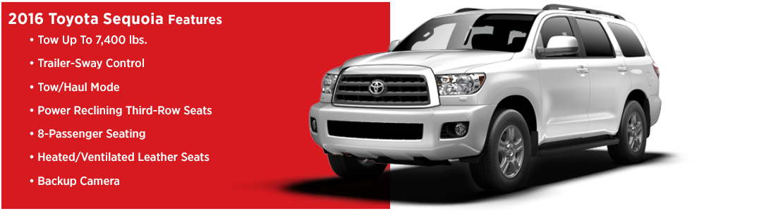 2016 Toyota Sequoia Model Features