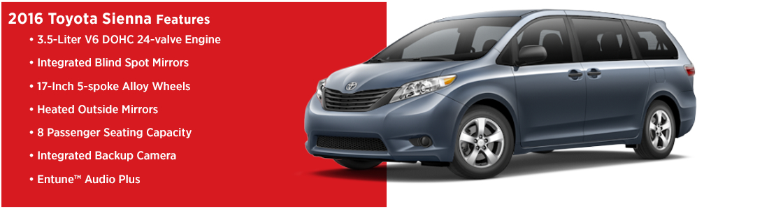 2016 Toyota Sienna Model Features
