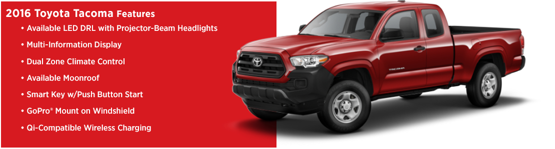 New 2016 Toyota Tacoma Model Features