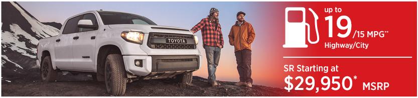 New 2016 Toyota Tundra Model Mileage & MSRP