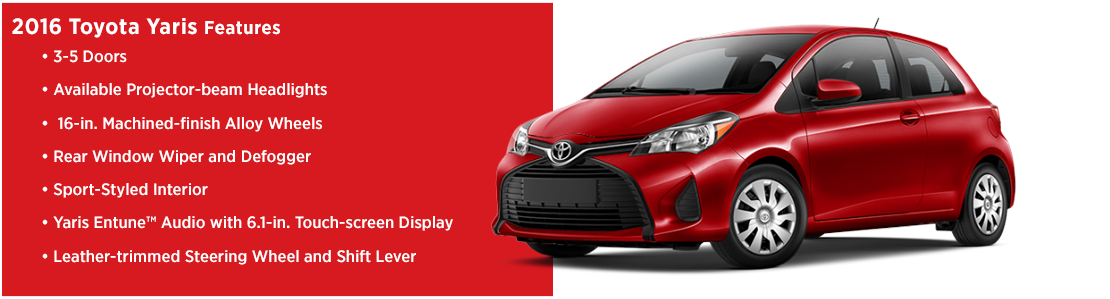 New 2016 Toyota Yaris Model Features