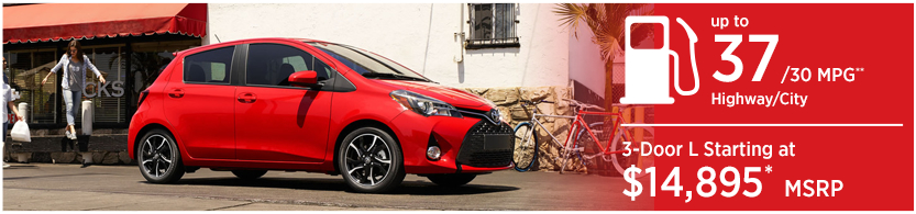 New 2016 Toyota Yaris Model Mileage & MSRP