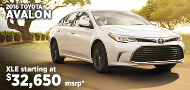 Click for 2016 Toyota Avalon Model Information serving Salem, Oregon