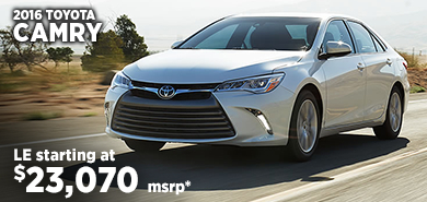 Click for 2016 Toyota Camry Model Information serving Salem, Oregon