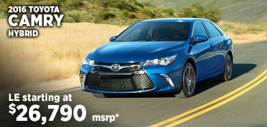 Click for 2016 Toyota Camry Hybrid Model Information serving Salem, Oregon