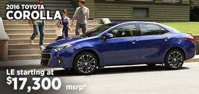 Click for 2016 Toyota Corolla Model Information serving Salem, Oregon