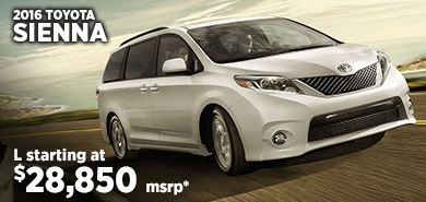 Click for 2016 Toyota Sienna Model Information serving Salem, Oregon