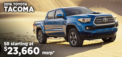 Click for 2016 Toyota Tacoma Model Information serving Salem, Oregon