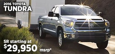 Click for 2016 Toyota Tundra Model Information serving Salem, Oregon