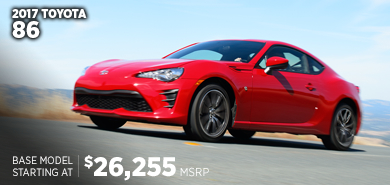 Click For New 2017 Toyota 86 Coupe Model Information in Lincolnwood, IL