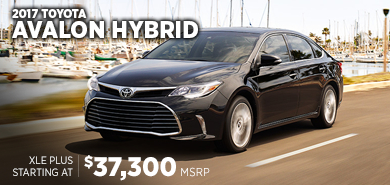 Click for 2017 Toyota Avalon Hybrid Model Information serving Salem, Oregon