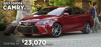 Click for 2017 Toyota Camry Model Information serving Salem, Oregon