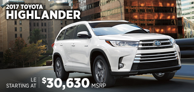 Click For New 2017 Toyota Highlander Model Information in Lincolnwood, IL