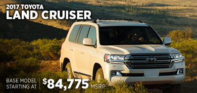 Click for 2017 Toyota Land Cruiser Model Information serving Salem, Oregon