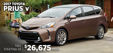 Click For New 2017 Toyota Prius v Model Information in Lincolnwood, IL