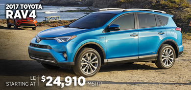 Click For New 2017 Toyota RAV4 Model Information in Chicago, IL