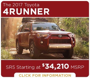 Click to learn more about the new 2017 Toyota 4Runner model