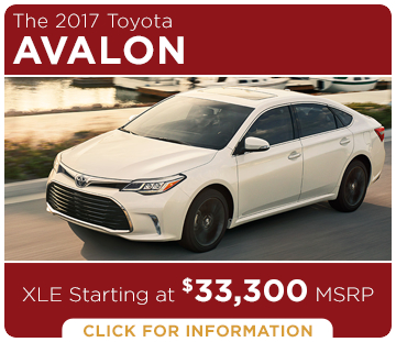 Click to learn more about the new 2017 Toyota Avalon model