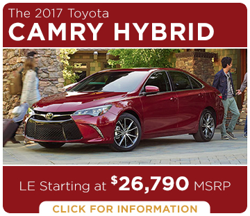 Click to learn more about the new 2017 Toyota Camry Hybrid model
