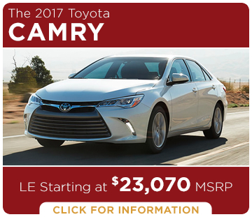 Click to learn more about the new 2017 Toyota Camry model