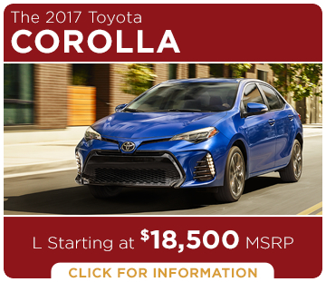 Click to learn more about the new 2017 Toyota Corolla model
