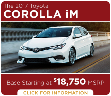 Click to learn more about the new 2017 Toyota Corolla iM model