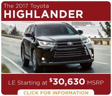 Click to learn more about the new 2017 Toyota Highlander model