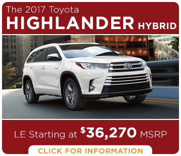 Click to learn more about the new 2017 Toyota Highlander Hybrid model