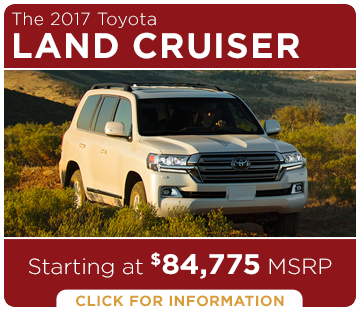 Click to learn more about the new 2017 Toyota Land Cruiser model