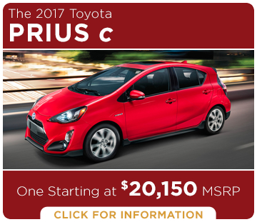 Click to learn more about the new 2017 Toyota Prius C Hatchback C Hatchback model