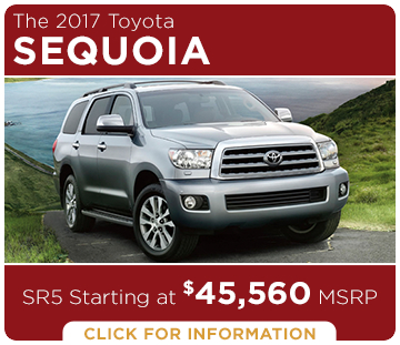 Click to learn more about the new 2017 Toyota Sequoia model