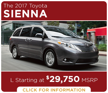 Click to learn more about the new 2017 Toyota Sienna model