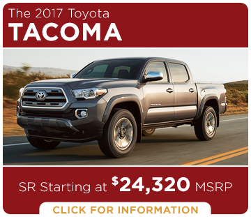 Click to learn more about the new 2017 Toyota Tacoma model