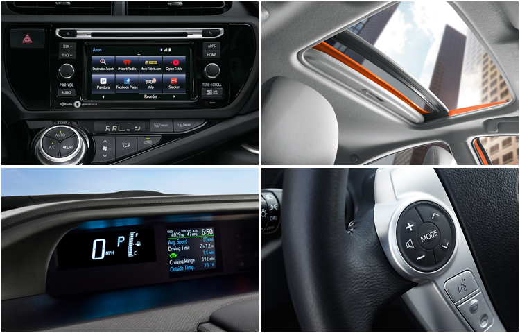 2017 Toyota Prius C Hatchback Interior Styling