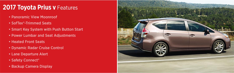 2017 Toyota Prius v Features