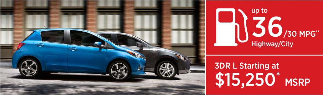 2017 Toyota Yaris MSRP & MPG