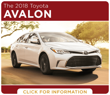 Click for 2018 Toyota Avalon Model Information serving Salem, Oregon