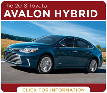 Click to learn more about the new 2018 Toyota Avalon Hybrid model