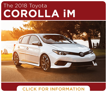 Click to research the 2018 Corolla iM model at Titus Will Toyota in Tacoma, WA