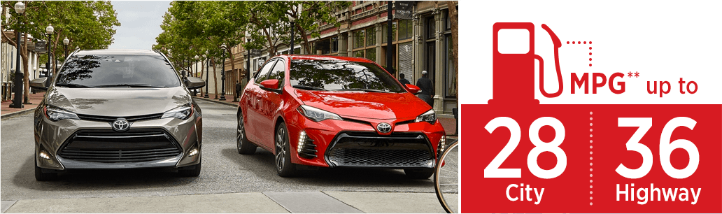 2018 Toyota Corolla model MSRP & MPG