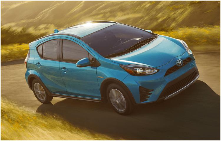 2018 Toyota Prius c exterior features