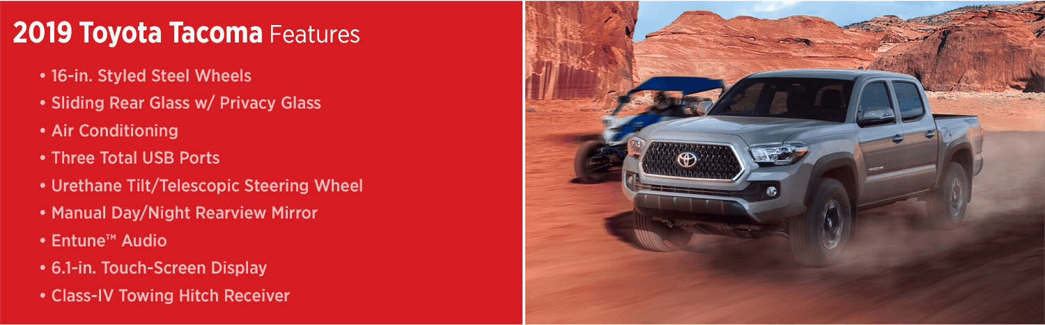 The 2019 Toyota Tacoma Midsize Pickup | Truck Features for Salem, OR