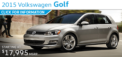 Click to Learn More About The 2015 Volkswagen Golf Model in Houston, TX