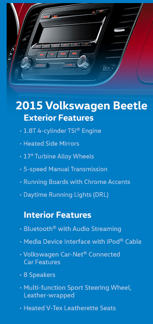 2015 Volkswagen Beetle Features