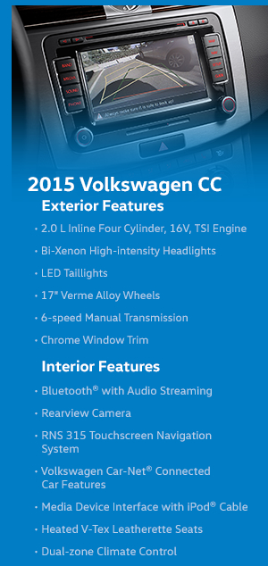 2015 Volkswagen CC Features
