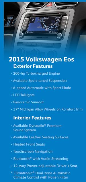 2015 Volkswagen EOS Model Features
