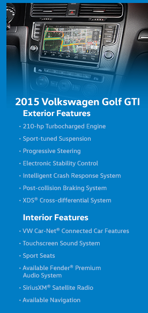 2015 VW Golf GTI Features