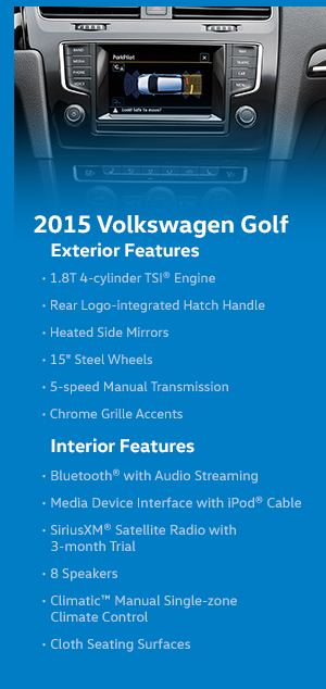 2015 Volkswagen Golf Features